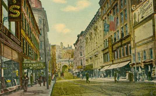 Hanover Street Looking West, 1910s