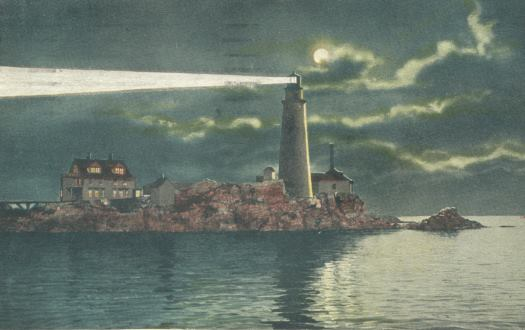 Boston Light By Moonlight, 1922