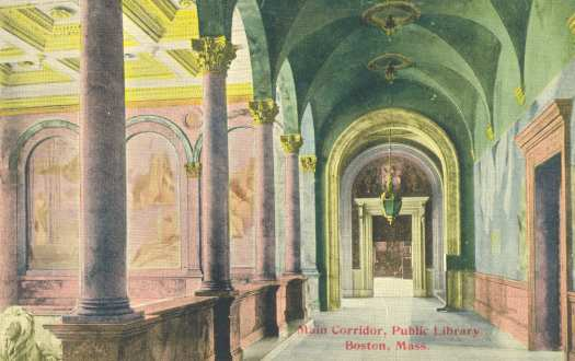 Main Hall, Boston Public Library, 1910s