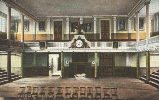 Interior Of Faneuil Hall, Looking Away From Stage