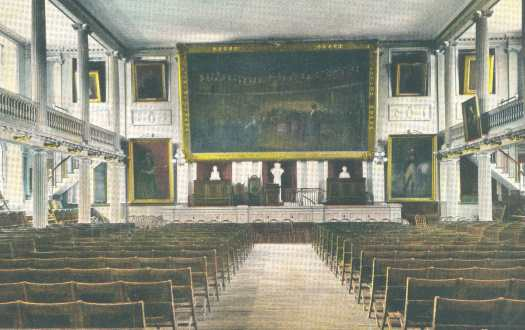 Interior Of Faneuil Hall, Looking At The Stage