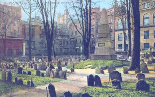 Granary Burying Ground Boston, Looking Southwest