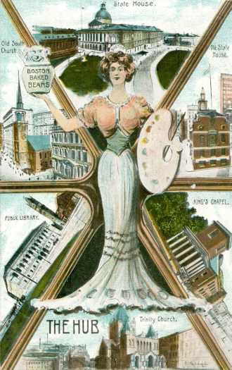 Boston Personified By A Victorian Woman