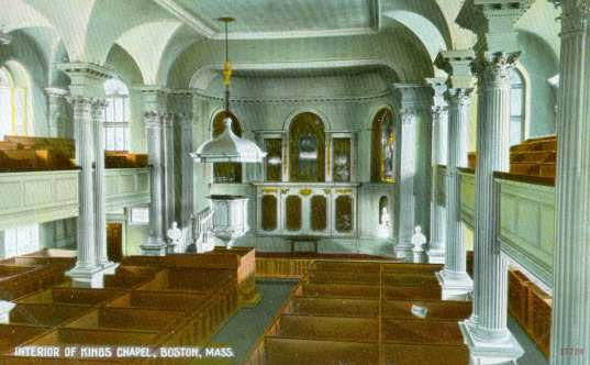 King's Chapel Interior, 1910s
