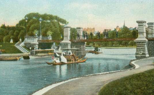 The Lagoon In Boston Public Garden