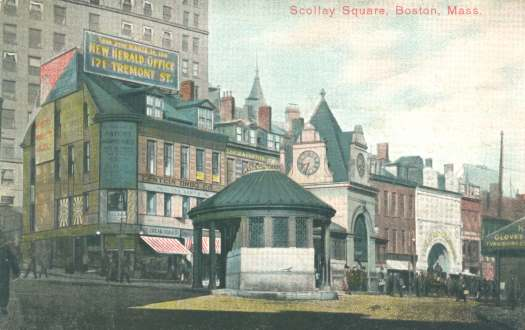 Old Scollay Square In Boston