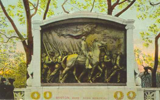 Robert Gould Shaw Memorial, Beacon Street