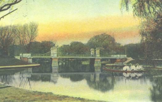 A Swan Boat In The Public Garden Lake