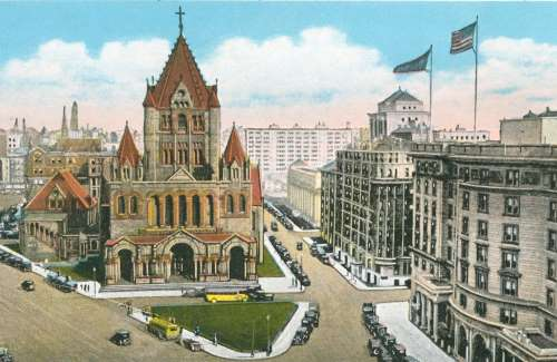Trinity Church And Copley Square In The 1920s