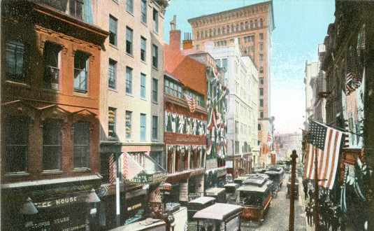 Newspaper Row In Boston, 1906
