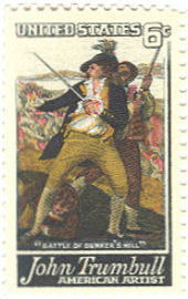 Peter Salem on Trumbull Stamp