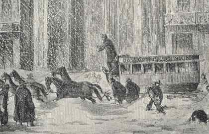 Boston Omnibus, 1850s Storm