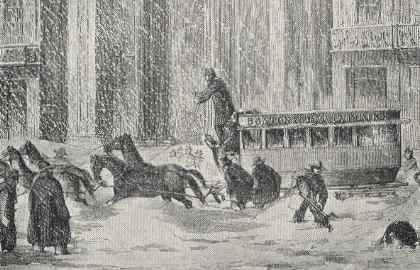 Boston Omnibus, 1850s Storm