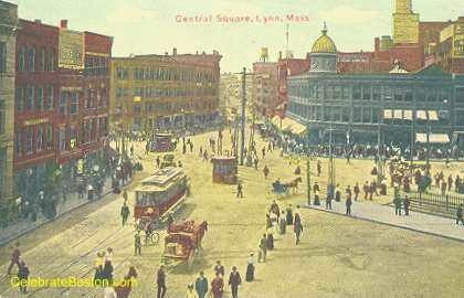 Central Square Lynn in 1908