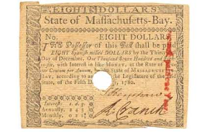 Massachusetts State Early Paper Money