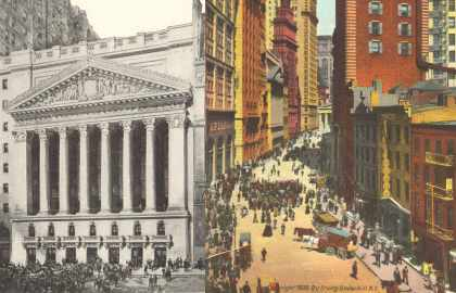 The New York Stock Exchange & The Curb Exchange