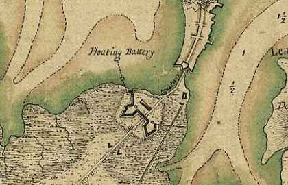 Boston Neck Map, 1775