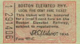 BERy Five Cent Local Fare, 1920s