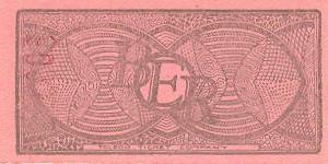 BERy 6-1/4 Cent Ticket Reverse