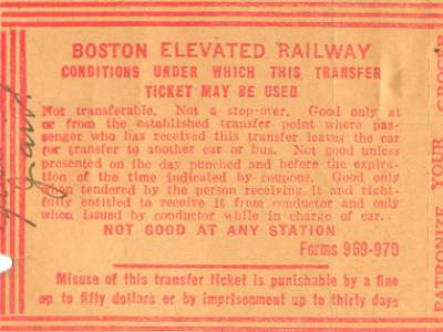 Andrew Station Transfer Reverse, 1930s