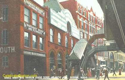 Rowe's Wharf Ferry Terminal, 1908