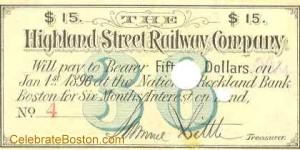 Highland Street Railway Bond Coupon