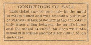 BERY Pupil's Ticket Reverse