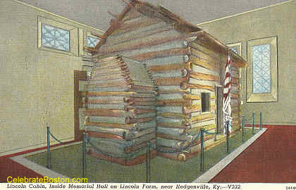Lincoln Log Cabin Near Hodgenville KY, c.1930