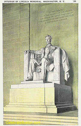 Lincoln Statue Washington DC, c.1930