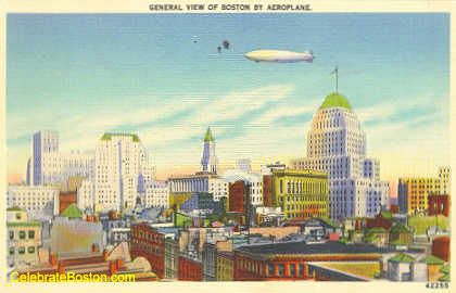 An Airship Over Boston