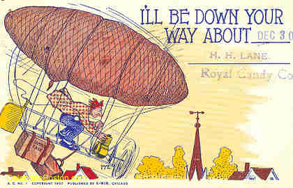 Comic Airship Postcard