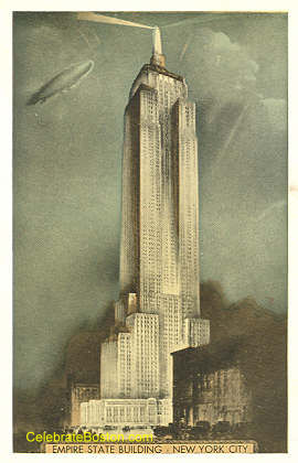 Airship Over The Empire State Building