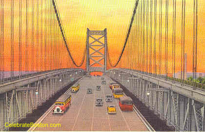 Delaware River Bridge, 1935