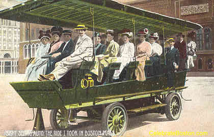Sightseeing Bus In Boston, 1908