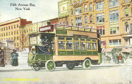 5th Ave Bus New York, 1920