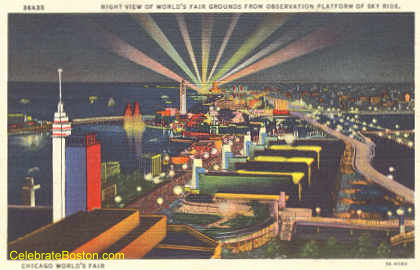 Chicago World's Fair At Night