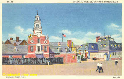 Old State House Replica, Chicago World&#39;s Fair