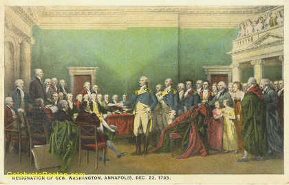Resignation Of General Washington 1783, c.1925