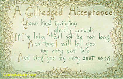 Gilt-Edged Acceptance Poem, c.1915