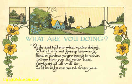 What Are You Doing Poem, 1918
