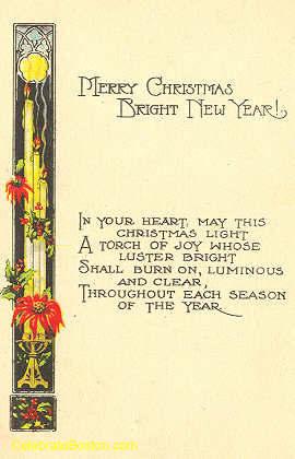 A Torch of Joy Poem, c.1920