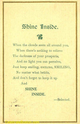Shine Inside Poem, c.1918