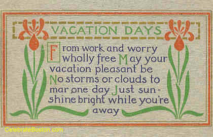 Vacation Days Poem, 1913