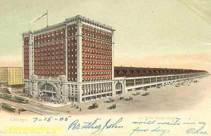 La Salle Street Depot Chicago, 1905