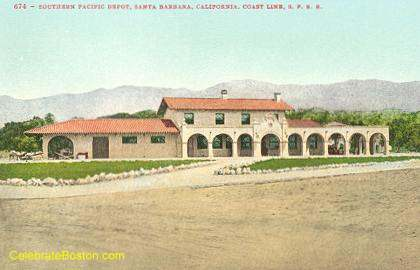 Santa Barbara Depot, 1910
