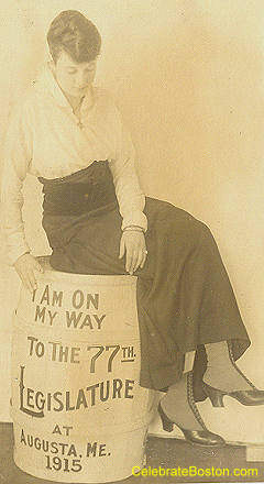 Pro-Suffrage, On My Way In Maine, 1915