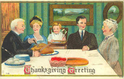 Thanksgiving Family Greeting, 1912