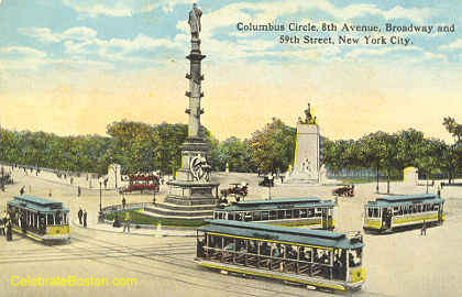 Trolley At Columbus Circle New York