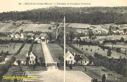 Belleau France, Entrance to American Cemetery, 1918