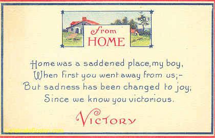 WWI Unity, Sadness to Joy